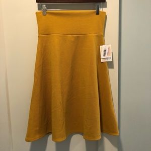 NWT LuLaRoe Azure Skirt size Medium Mustard